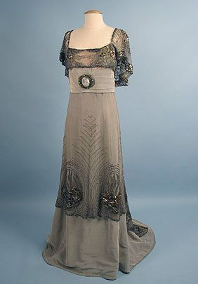 Opal grey evening dress, by Doucet, c. 1900