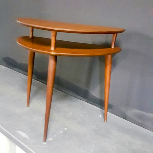 Amazing Mid-century half-moon kidney shaped occasional table, beautifully made, very rare, sturdy good condition R1800 includes delivery to door
