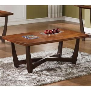 Nebraska Furniture Mart Steve Silver Co Dark Honey Coffee Table