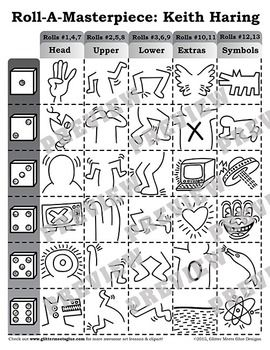 Roll-A-Masterpiece-Keith-Haring-Art-History-Game-2083021 Teaching Resources - TeachersPayTeachers.com