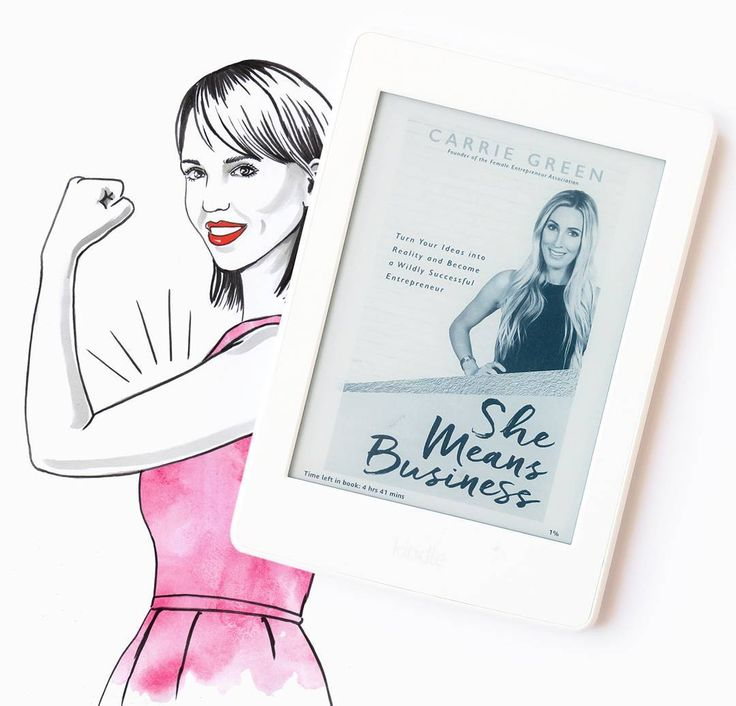 "#book ""She means business"" Carrie Green #girlboss #bossbabe"