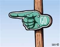 Vintage Go Sign