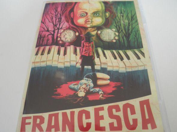 Detalle de la portada del DVD de Francesca, de Luciano Onetti