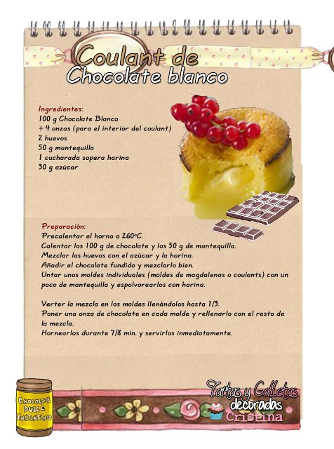 Tartas, Galletas Decoradas y Cupcakes: Coulant de Chocolate Blanco