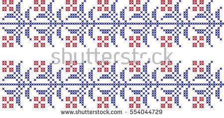 embroidered cross-stitch pattern Flower national pattern
