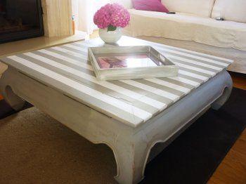 Les 25 meilleures id es concernant tables basses peintes for Restaurer un meuble en bois peint