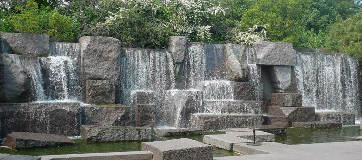 Fountain at the Roosevelt Memorial, Washington DC