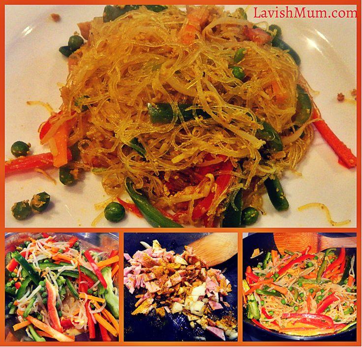 Singapore Noodles in 3 Steps  http://www.lavishmum.com/422731282