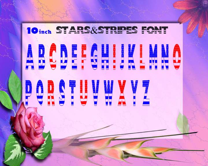 Stars And Stripes Font Vinyl Lettering 10inch Letters Price Per Letter Handmade Name Decal From Big Tees Printing Vinyl Lettering Lettering Stripes