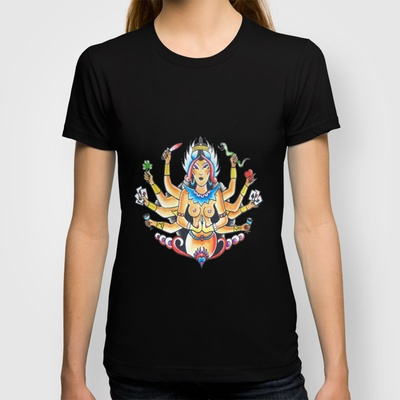 Kali Traditional  T-shirt by Christopher Chouinard - $18.00