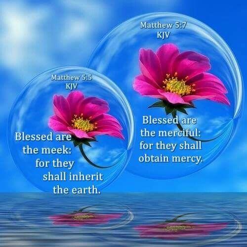Matthew 5:5,7 KJV