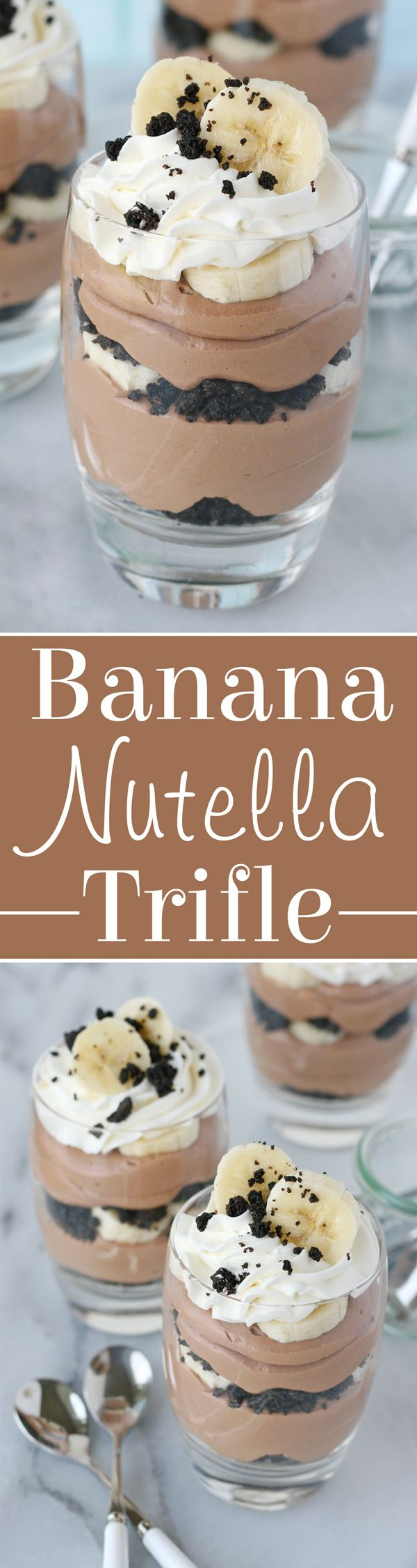 Simply INCREDIBLE! Bananas, Nutella, Whipped Cream, Oreos... YUM!