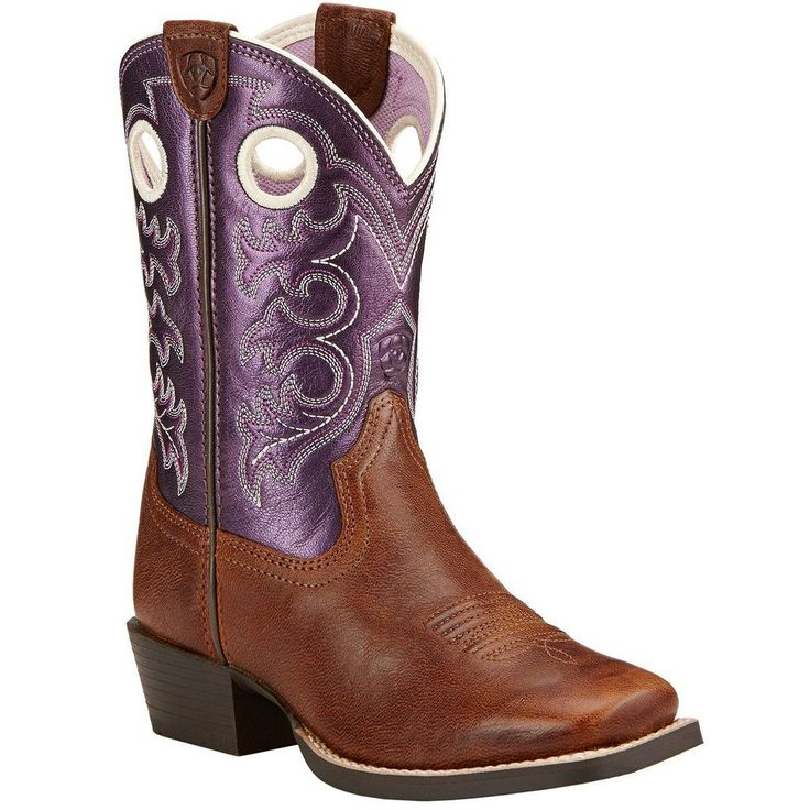 Ariat Kids Crossfire Square Toe Western Boots