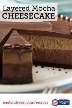 Layers of chocolate and coffee filling make this the perfect cheesecake.