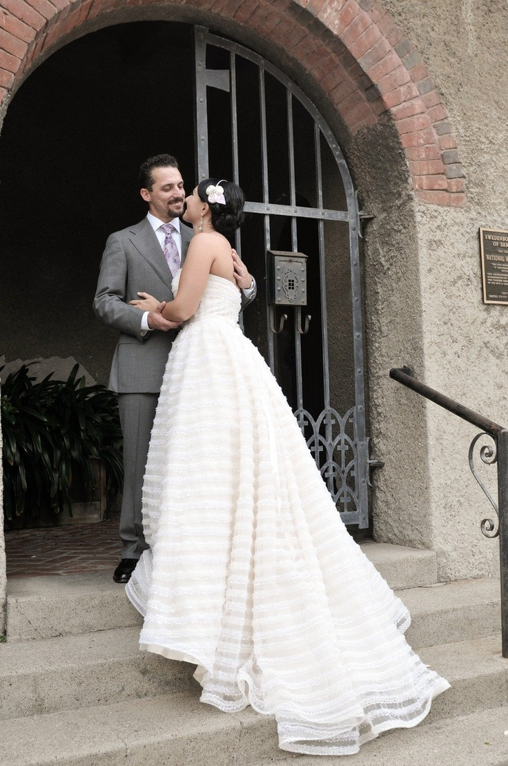 Wedding Gown by Christos.  Photography by lisafarrerweddings.com