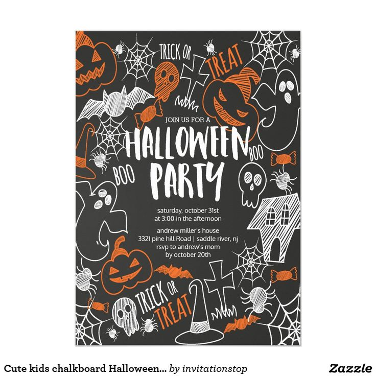 52 best Halloween Party Invitations images on Pinterest | Zazzle ...