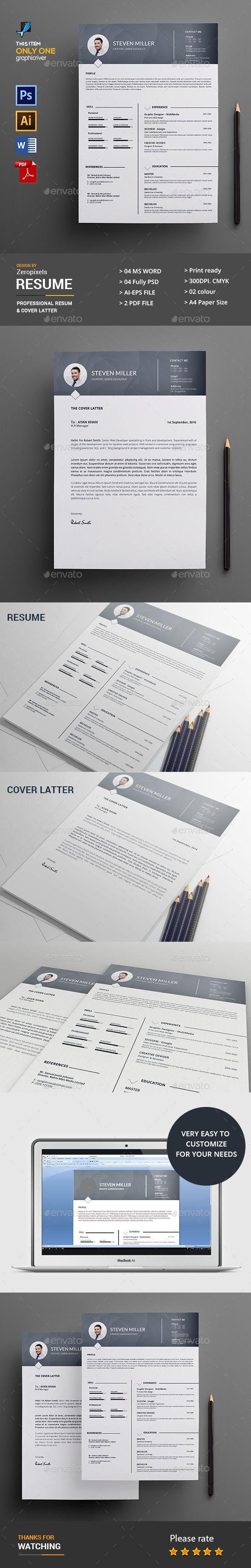 Resume Template PSD Vector EPS AI Illustrator