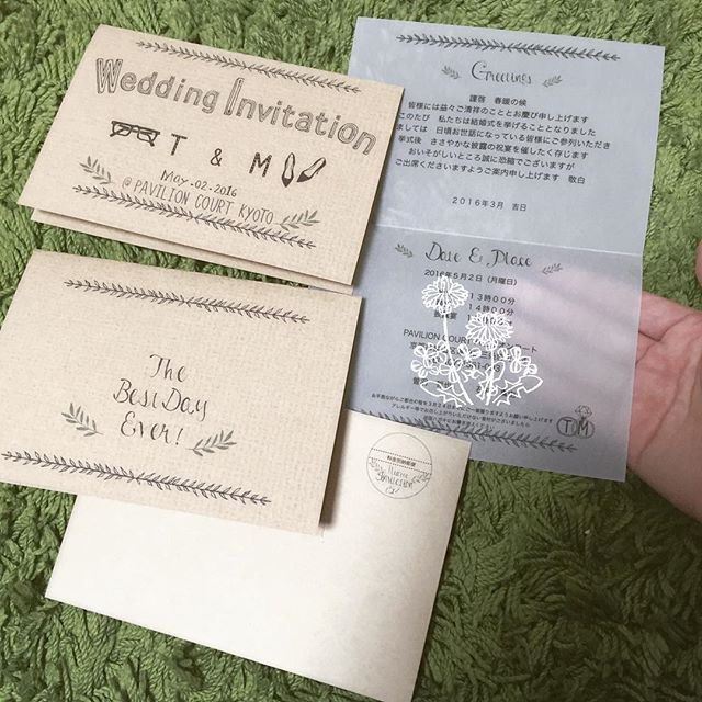 印刷して、おりおりおりおり… オリヒメちゃんも、トレーシングペーパーも封筒も無事印刷できました! トレーシングペーパーの透け感♡いい!!!…