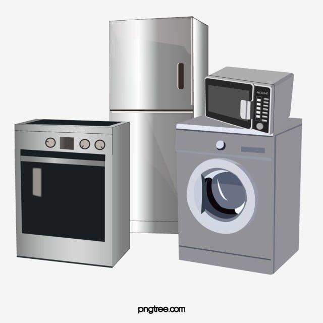 Um Conjunto De Eletrodomesticos Clipart Geladeira Maquina De Lavar Imagem Png E Psd Para Download Gratuito Home Appliances Home Icon Appliances
