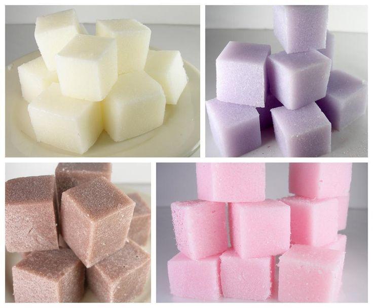 Recipe for Soapy Sugar Scrub Cubes $