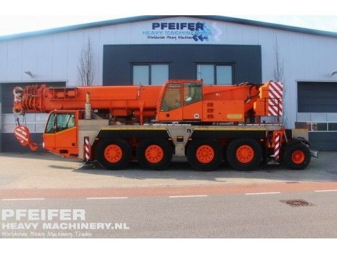 #Used #DEMAG - #AC80/2 #telescopic #crane available at #Pfeifer #Heavy #Machinery. Year of construction 2003. Boom length maximum (m) 50. Loading (lifting) capacity (kg) 90000. Fuel Diesel. Kilometers 119717. Hours carrier 6877. Hours superstructure 9785. PHM-Id 06714