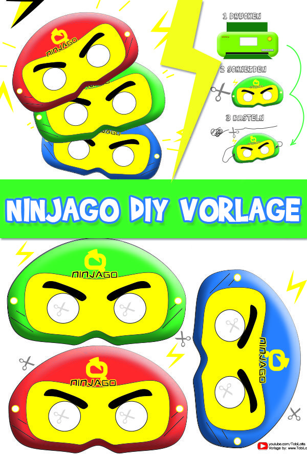 Ninjago Vorlage Diy Bastelvorlagen Gratis Basteln Mit Kindern Mamablog Mama Diy Ninjago Geburtstag Basteln Basteln Mit Papier Vorlagen Basteln Mit Kleinkindern