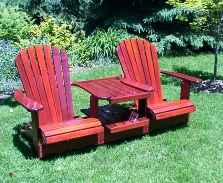 8 best double adirondack chair t te a t te images on. Black Bedroom Furniture Sets. Home Design Ideas