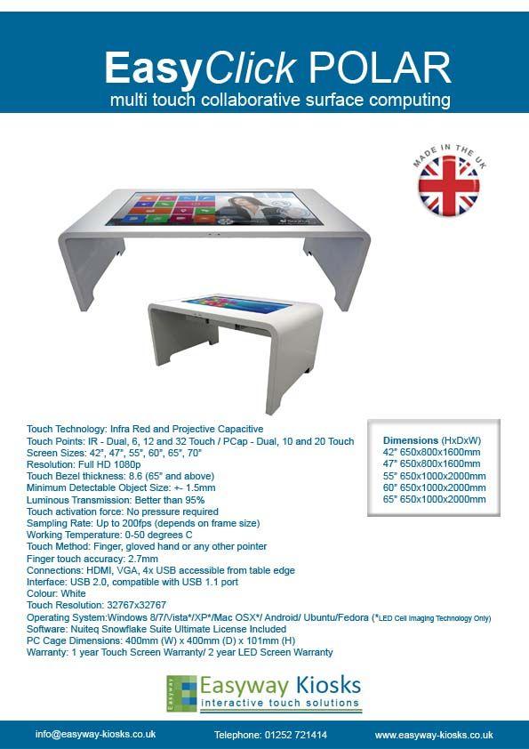 Easyway EasyClick POLAR Touch Table.