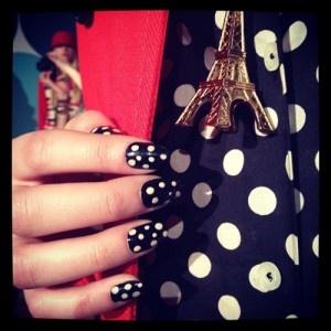 Kate Spade polka dot nails!