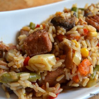 Pilaf orez carne legume (1)