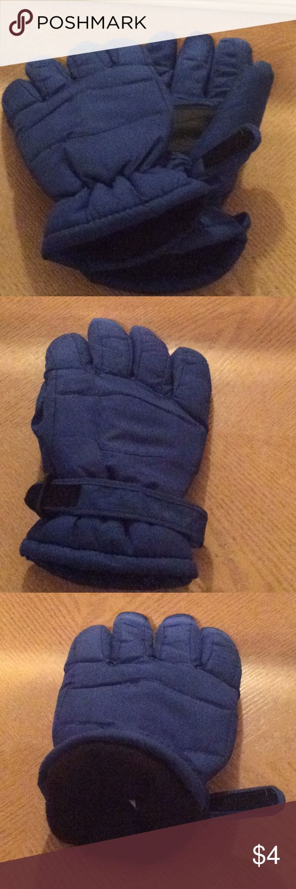 Men's insulated Winter Gloves Blue insulated gloves Accessories Gloves