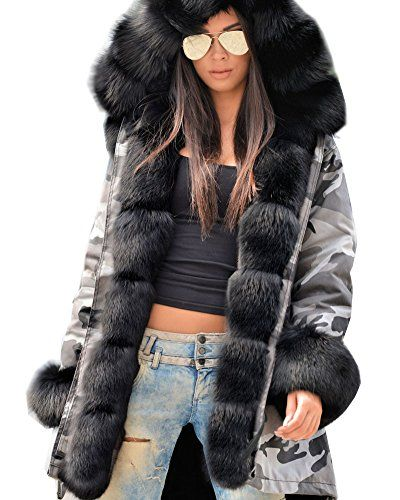 15a61e61af6fc Roiii NEW Women LADIES HOOD PARKA JACKET Quilted WINTER COATS FISHTAIL Size  8-20