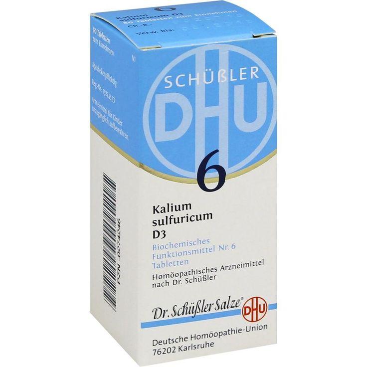 BIOCHEMIE DHU Schüssler Salz 6 Kalium sulfuricum D3 Tabletten: Schüssler Salz Nr.6, homöopathisches Arzneimittel  Packungsinhalt: 80 St…