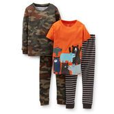 Advice: For child's safety, cotton pjs should always fit snugly. Funny woodland animals will accompany him to bed in these fun and boyish pjs.