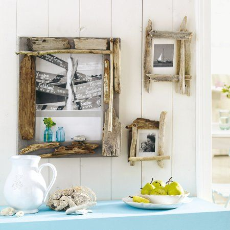 Very simply easy breezy driftwood frames.