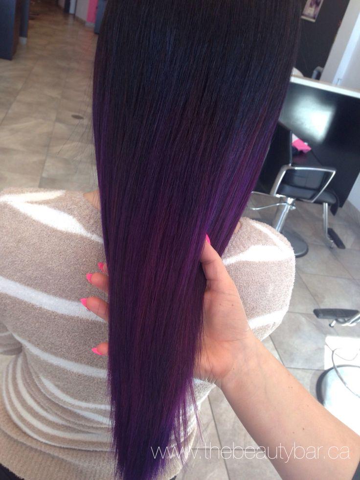Violet and Wild Orchid ombre @beautybarpickering #pravana