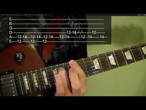 ▶ 25 BEST GUITAR RIFFS EVER! Guitar Lesson ( 1 of 2 ) WITH TABS - Free Online Video Guitar Lessons - YouTube