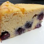 Citroen blauwe bessen cake koolhydraatarm en glutenvrij en natuurlijk suikervrij.