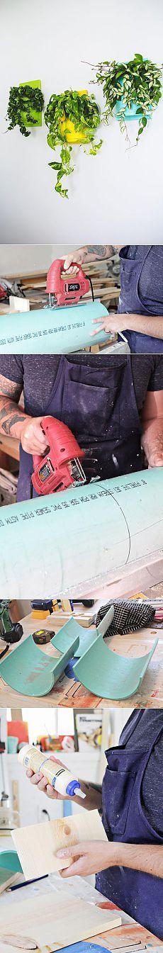 Как сделать настенные горшки из ПВХ-труб своими руками | Своими руками