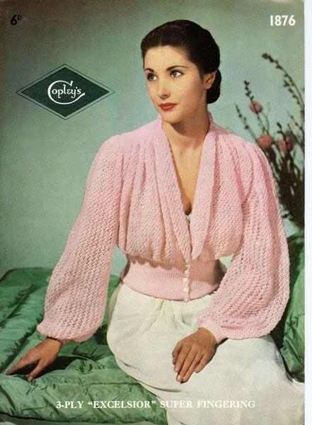 Så elegant! Bäddjacka från 40-talet.