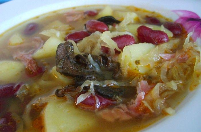 Výborná kyselá a sytá polévka.