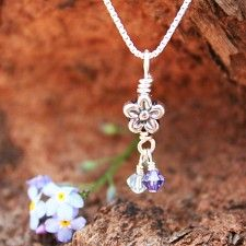 A discreet way to remember my little one who couldn't stay. Forget-me-not Miscarriage Necklace - Baby Loss and Miscarriage Jewelry