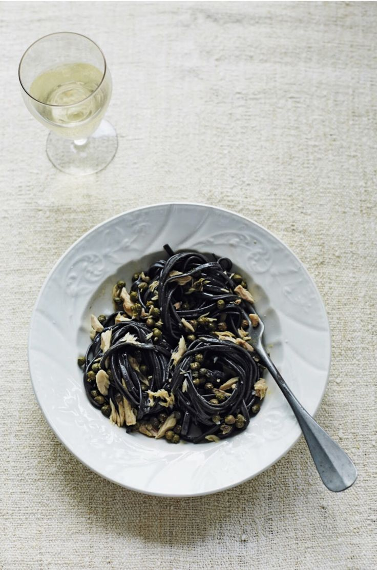 Have you tried Linguine Alla Sepia? We love this savory seafood pasta from our Puglia Cookbook. Don't let the dark color scare you off--the color comes from real squid ink! We use Felicetti Squid Ink Spaghetti for this dish.