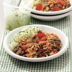 #SnelKlaar en verrassend! Gyros met orzo en salade, voor maar 9 ProPoints waarden #WeightWatchers #WWrecept