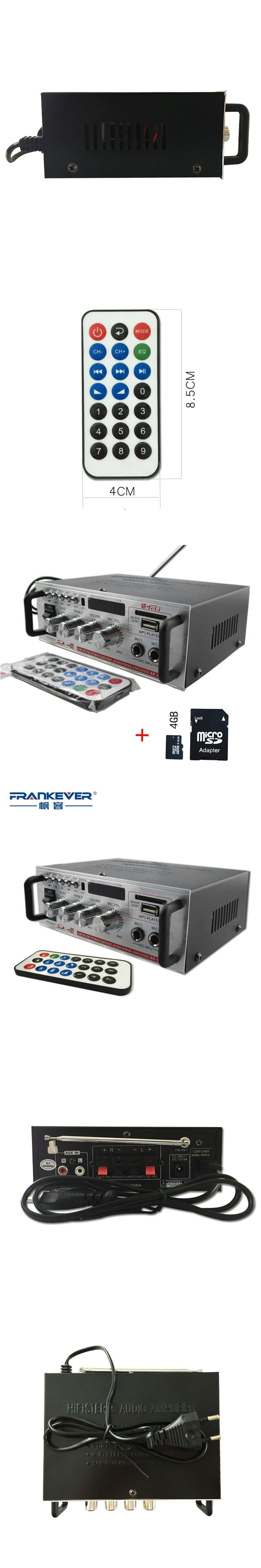 Hi Fi Sliver 12V DC5A/ 220V CD MP3 Radio Car Auto Motor Boat Home Audio Stereo Bass Speaker AMPLIFIER Free Shipping AK-668D