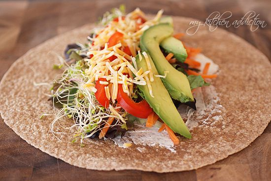 California veggie wraps...these would be nice in Nori instead of tortillas