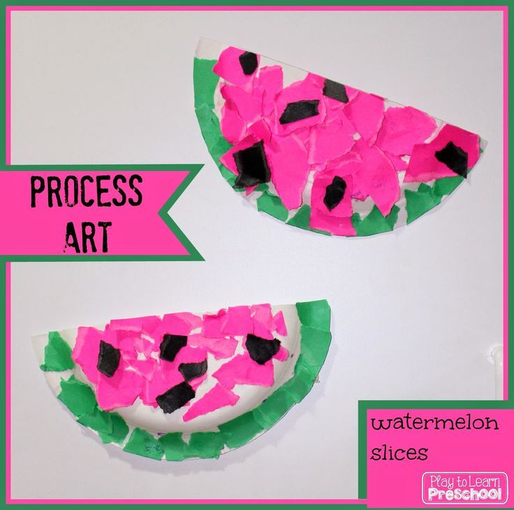 Watermelon Process Art - Play to Learn Preschool