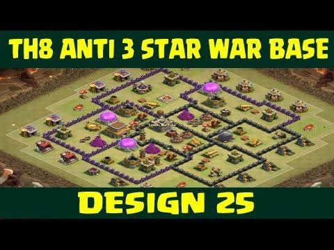 clash of clans town hall 8 anti 3 star war base layout 25 - Stars War