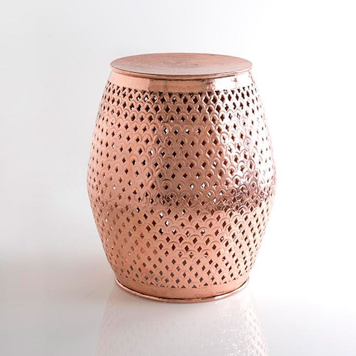 images inspirational copper garden on awesome best ceramic of duarte stools pinterest pecan stool geometric