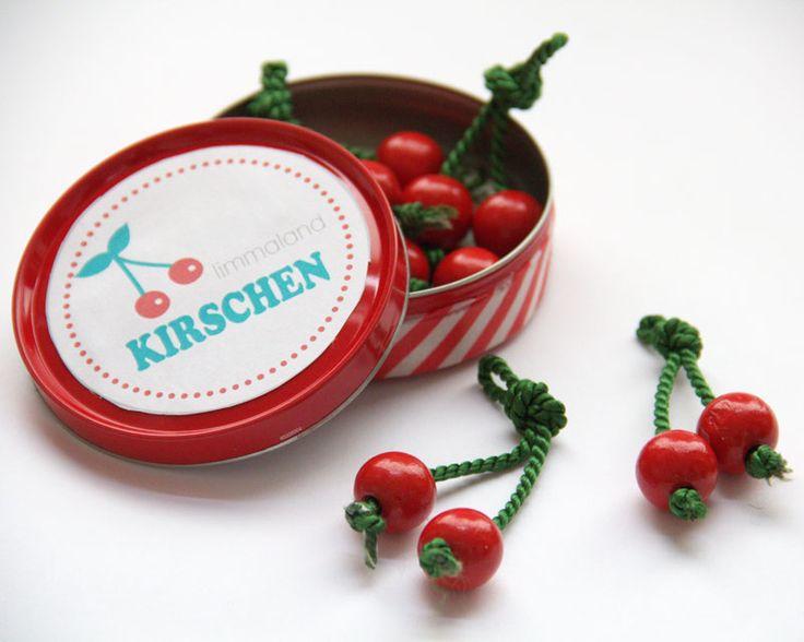 Obst basteln Kirschen Kaufladen. www.limmaland.com